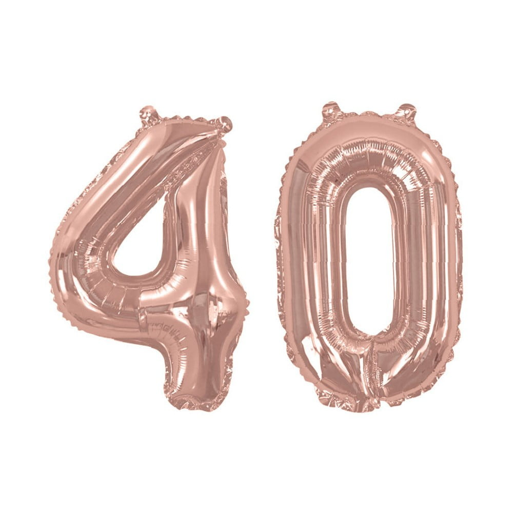 Balónek s číslem 40 Neviti Rose Gold