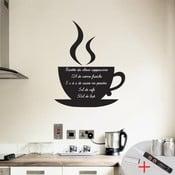 Set autocolant tip tăbliță de scris și marker Ambience Coffee