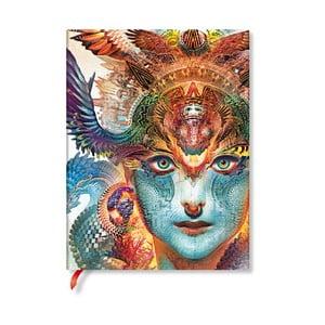 Nelinkovaný zápisník s měkkou vazbou Paperblanks Dharma Dragon, 18x23cm