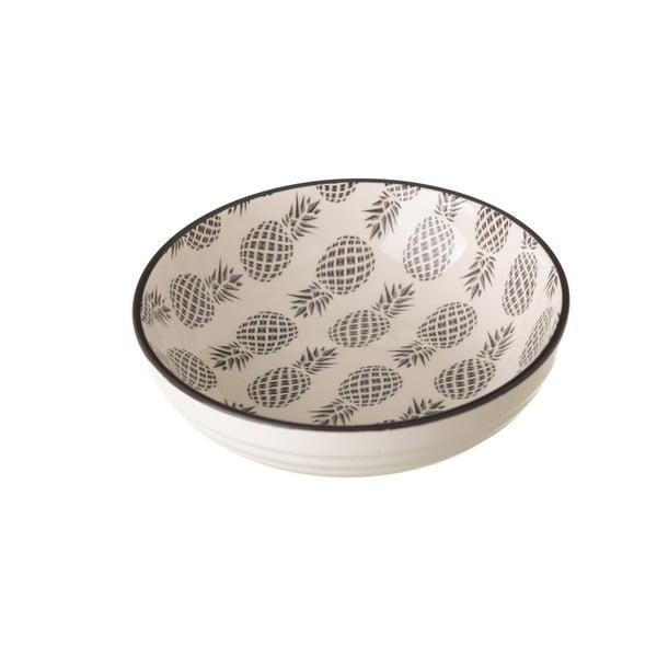 Pinna szürke-fehér porcelán tál, ⌀ 12,9 cm - Unimasa