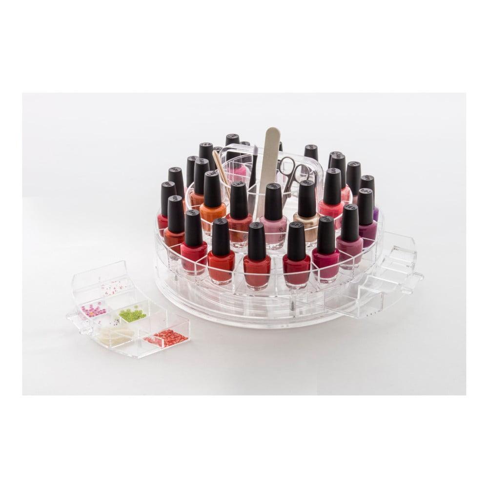 Kosmetický otočný organizér na laky na nehty Compactor Perfect Nails