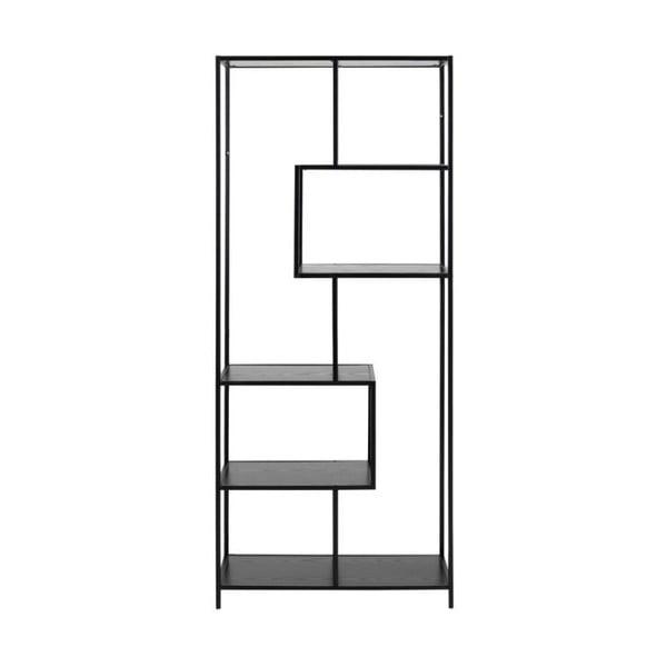 Černá knihovna Actona Seaford, 185 x 77 cm
