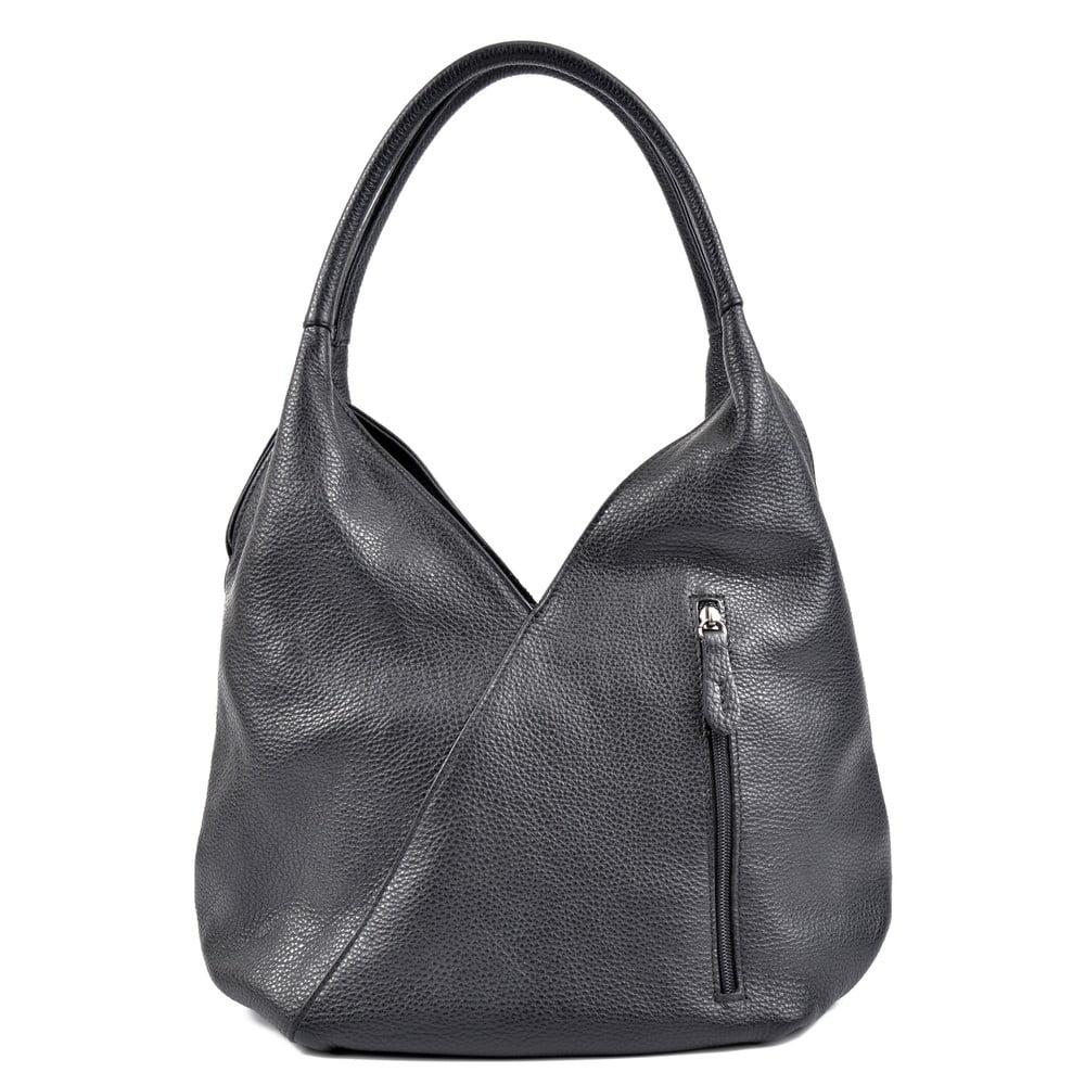 Černá kožená kabelka Roberta M Brigida