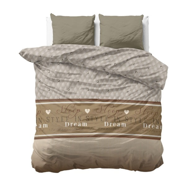 Povlečení z mikroperkálu na dvoulůžko Sleeptime Sleep in Time,200x200cm