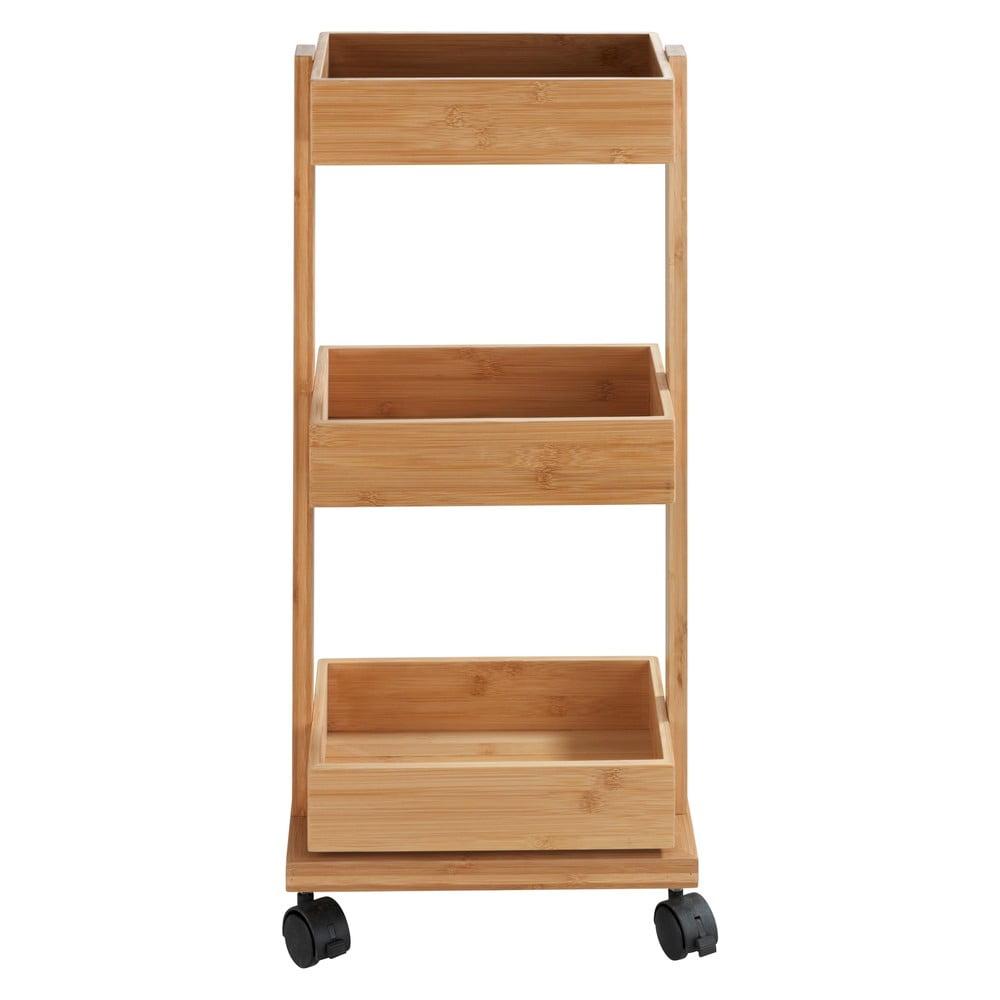 Bambusový třípatrový vozík Wenko Tortona