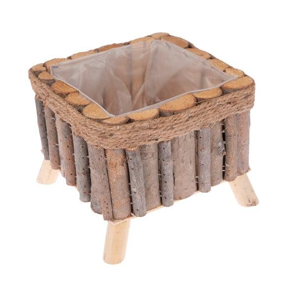 Čtvercový dřevěný truhlík na nožičkách Dakls
