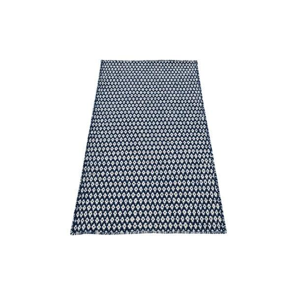 Ručně tkaný koberec Blue and White Kilim, 70x115 cm