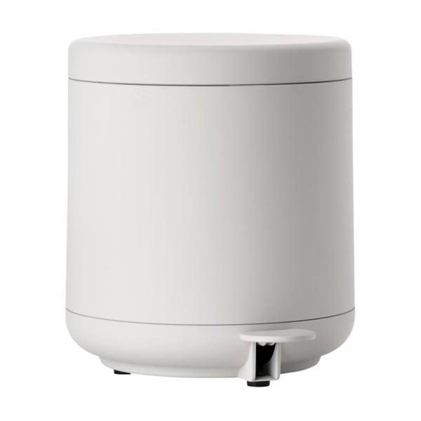 Soft Grey világos szürke pedálos, fürdőszobai szemetes, 4 l - Zone