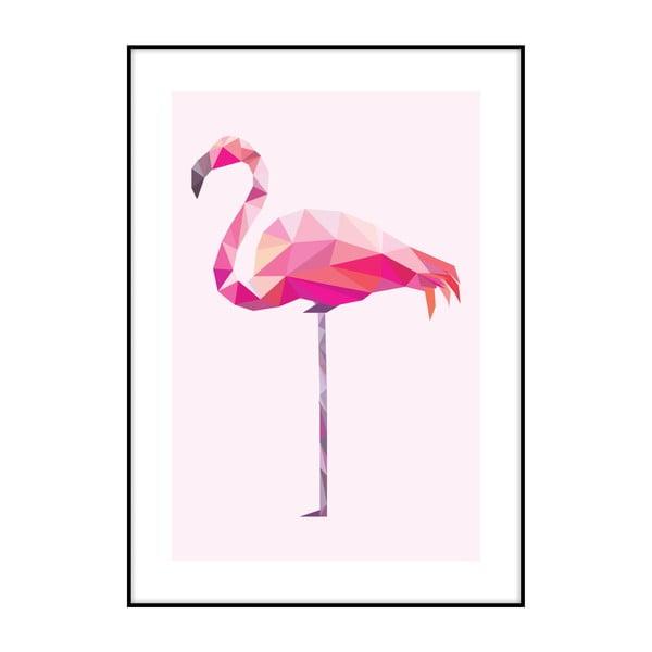 Plakát Imagioo Polygon Flamingo, 40x30cm