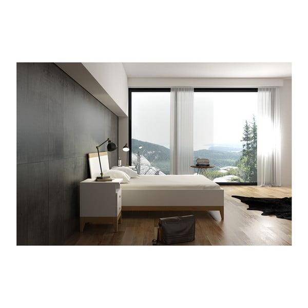 Dvoulůžková postel z masivního borovicového dřeva SKANDICA Livia High Bed, 160 x 200 cm