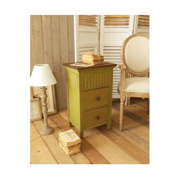 Žlutý noční stolek zmahagonového dřeva Orchidea Milano Antique