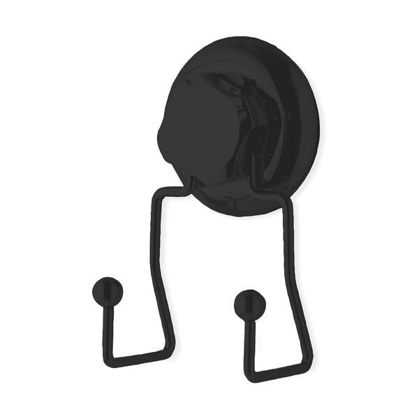Cârlig dublu autoadeziv de perete Compactor Bestlock, negru