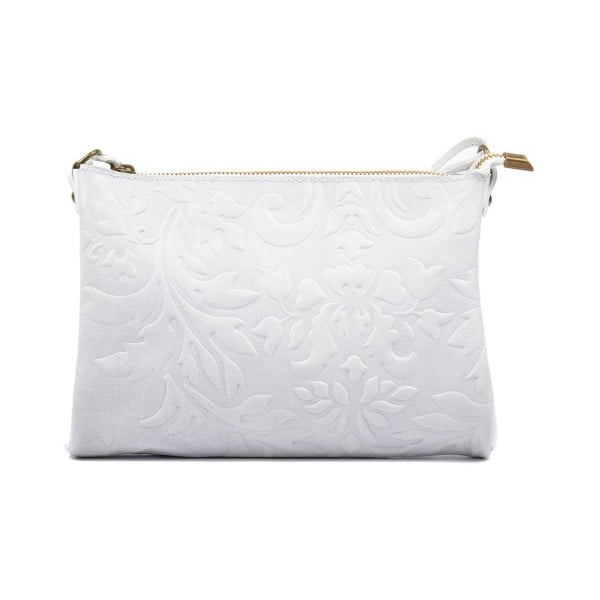 Biela kožená kabelka Carla Ferreri Beda