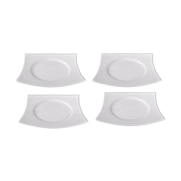 Sada 4 porcelánových dezertních talířů Sola Sandra, 21.7cm
