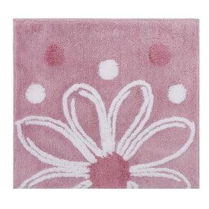 Růžová předložka do koupelny Alinda, 50x60cm