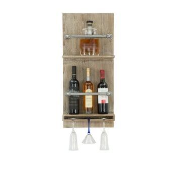 Suport de perete pentru sticle și pahare Mauro Ferretti Pipe Bar, 76 x 34 cm de la Mauro Ferretti