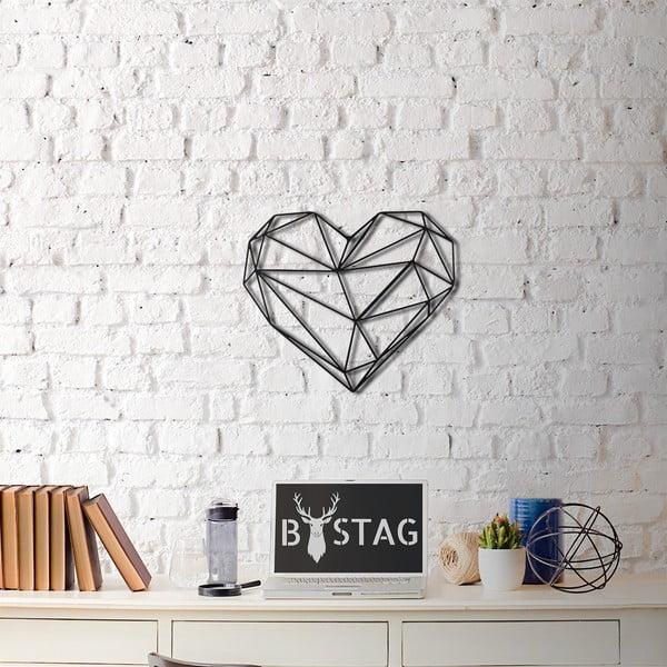 Nástěnná kovová dekorace Heart, 40x37 cm