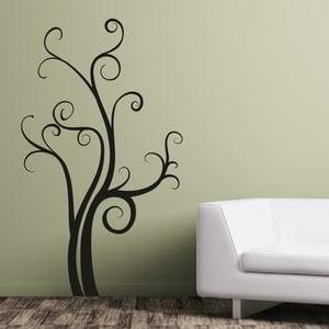 Samolepka na stěnu Strom štěstí, černá