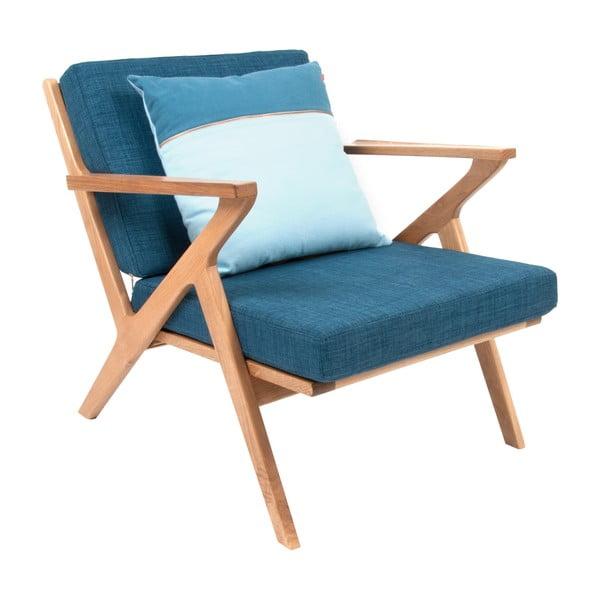Křeslo Present Time Rest Oak Blue