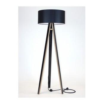 Lampadar cu abajur negru și cablu negru Ragaba Wanda, negru imagine