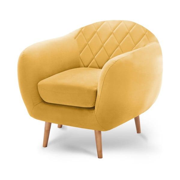 Tmavě žluté křeslo Scandi by Stella Cadente Maison Diva