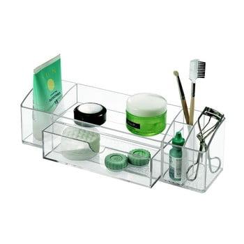 Organizator transparent cu sertar iDesign Med+, lungime 30,5 cm
