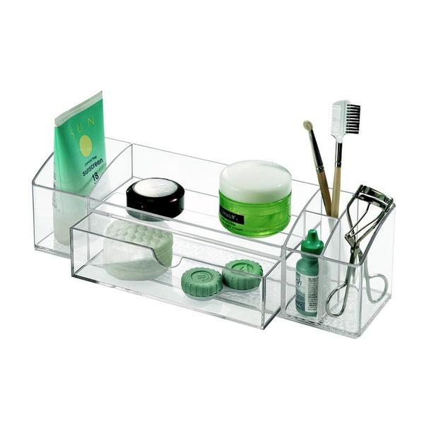 Transparentní organizér se zásuvkou iDesign Med+, délka30,5cm