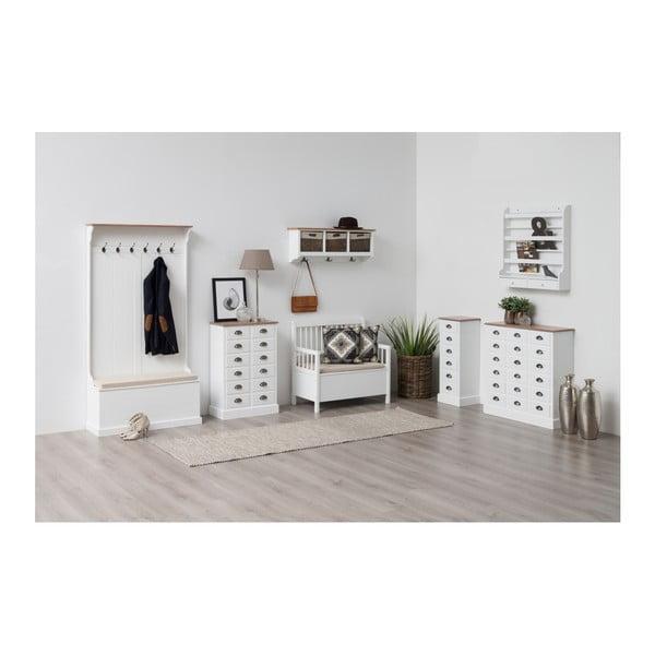 Bílá jídelní lavice s úložným prostorem Actona Assila