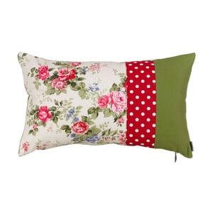 Polštář s náplní Pink and Green Flowers