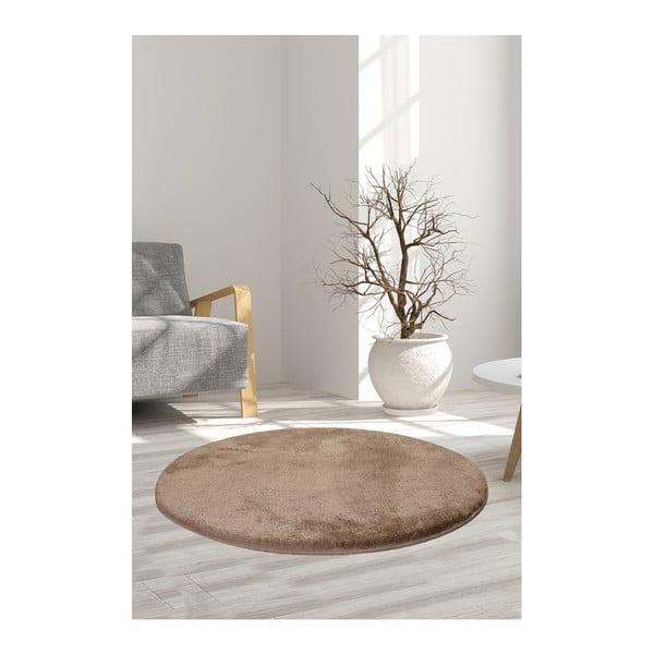 Jasnobrązowy dywan Milano, ⌀ 90 cm