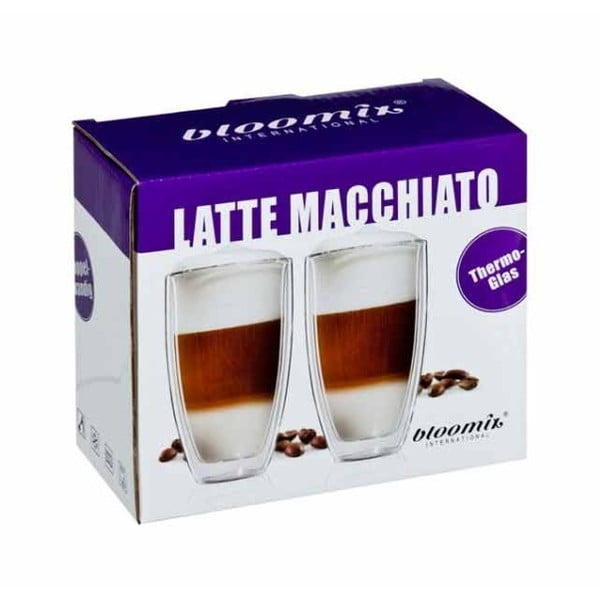 Sada 2 velkých hrnků na latte macchiato bloomix Roma