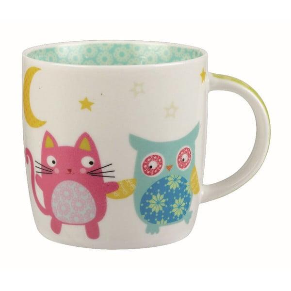 Hrnek v dárkovém boxu Owl & Cat Moon, 284 ml