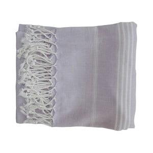 Šedá ručně tkaná osuška z prémiové bavlny Homemania Sultan Hammam,100x180 cm