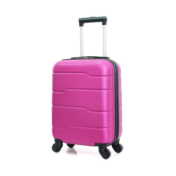 Růžový cestovní kufr na kolečkách Hero Santiago,30l