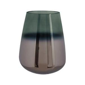 Zelená skleněná váza PT LIVING Oiled, výška 18 cm