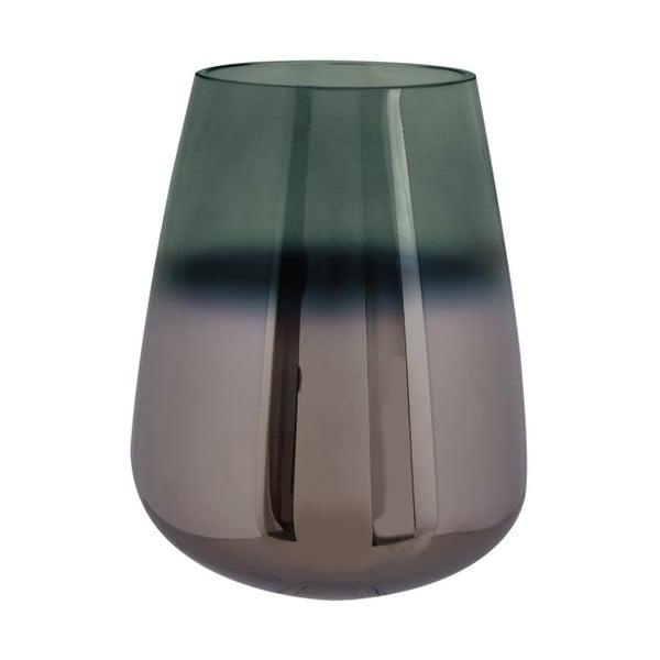Vază din sticlă PT LIVING Oiled, înălțime 18 cm, verde