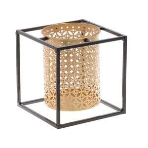 Kovový svícen ve zlaté barvě InArt, 15x15cm