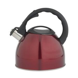 Konvice na čaj, 2.5 l, kovově červená
