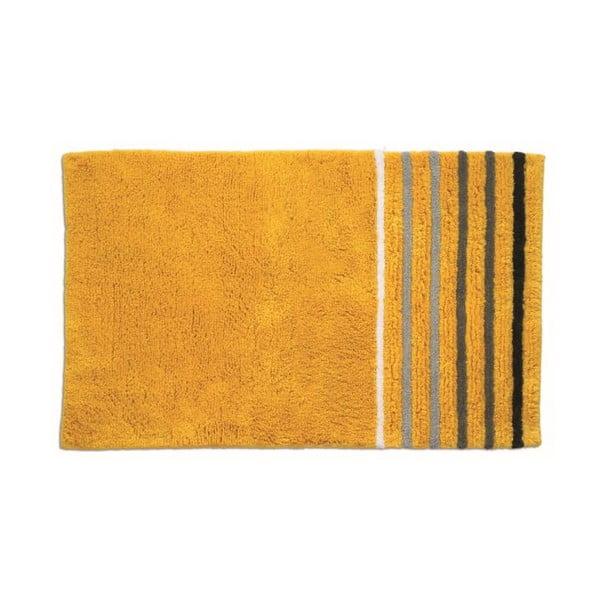 Koupelnová podložka Ladessa, žlutý pruh, 80x50 cm