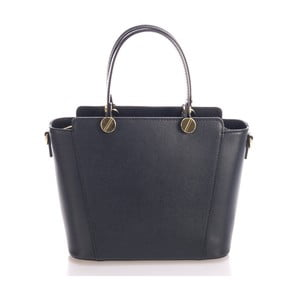 Černá kožená kabelka Giulia Massari Karina