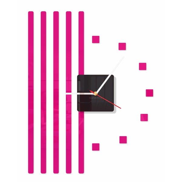 Hodiny z plexiskla Points Pink