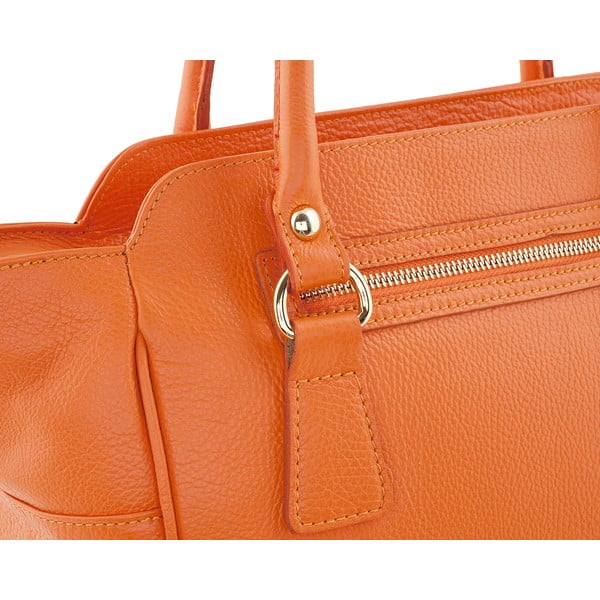 Kožená kabelka Gabriela, orange