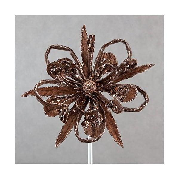 Brązowy świąteczny kwiat dekoracyjny DecoKing Natu