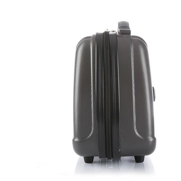 Šedý cestovní kufr s příručním zavazadlem Blue Star Prague, 47l