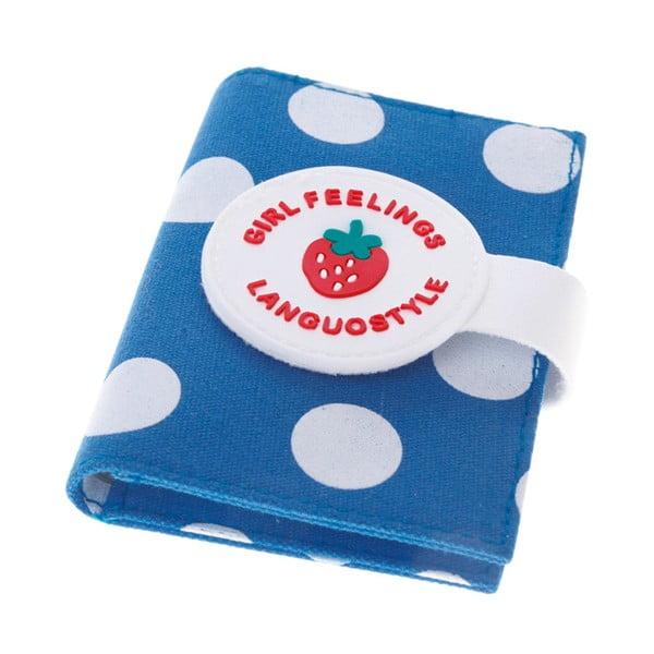 Modré pouzdro na doklady Languo Strawberry