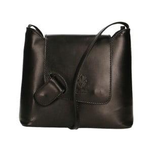 Černá kožená kabelka Chicca Borse Carmello