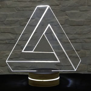 3D stolní lampa Triangle II