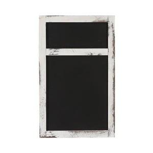 Bílá nástěnná tabule Mendler Shabby Billboard