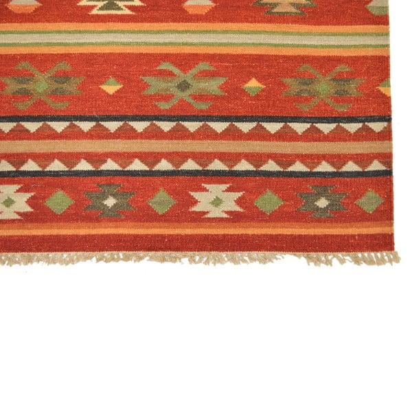 Ručně tkaný koberec Orange Patterns, 140x200 cm