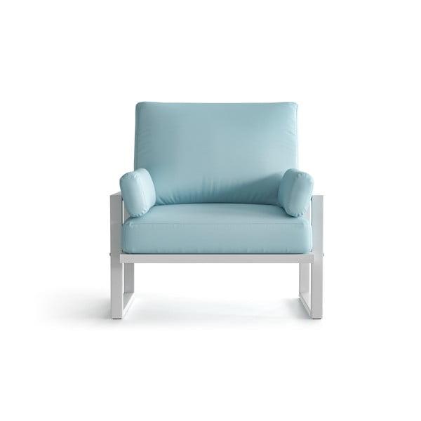 Světle modré zahradní křeslo s područkami a se světlými nohami Marie Claire Home Angie